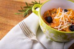 Italian pasta with cheese. Royalty Free Stock Photo