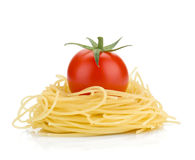 Italian pasta and cherry tomato Stock Images