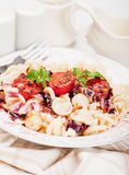 Italian pasta with cherry tomato Royalty Free Stock Photo