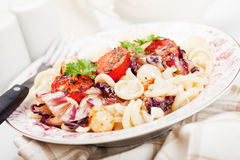 Italian pasta with cherry tomato Royalty Free Stock Photography