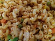 Italian pasta. Closeup Italian pasta for breakfast with parsley Stock Photos