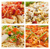 Italian pasta, clous-up collection. Isolated on white background Stock Photo