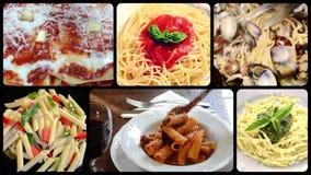 Italian pasta collage stock video