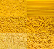 Italian pasta collection. Italian mix pasta backgrounds collection Stock Image