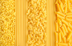 Italian pasta collection background Royalty Free Stock Photo