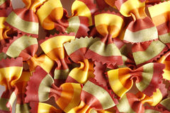 Italian pasta - colorful farfalle Royalty Free Stock Photos