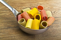 Italian Pasta colors Stock Image