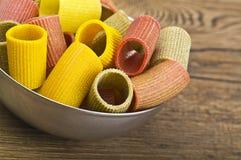 Italian Pasta colors Stock Images