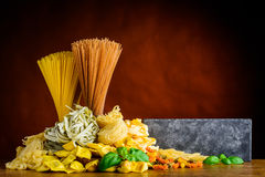 Italian Pasta and Copy Space Royalty Free Stock Photo
