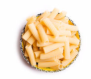 Italian pasta in a dish Royalty Free Stock Image