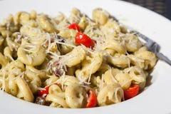 Italian Pasta Dish in Sunshine Stock Photography