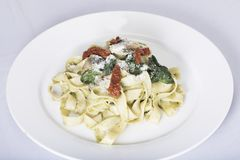 Italian pasta dish with tomato Stock Image