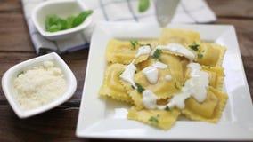 Italian pasta dish stock footage