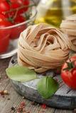 Italian pasta. Dry pasta background royalty free stock photo