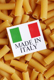 Italian pasta of durum wheat Royalty Free Stock Photo