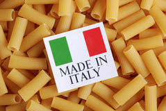 Italian pasta of durum wheat Stock Image