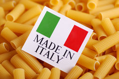Italian pasta of durum wheat Stock Photography
