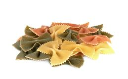 Italian pasta farfalle Stock Photos