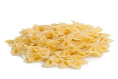 Italian pasta - Farfalle Stock Photo