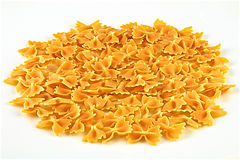Italian pasta Farfalle royalty free stock photography