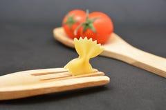 Italian pasta farfalle. Italian food tomato Royalty Free Stock Image