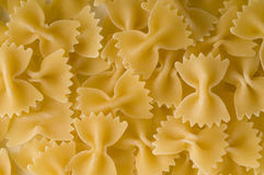 Italian pasta farfalle shape Royalty Free Stock Images