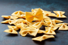 Italian pasta farfalle Stock Photography