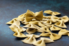 Italian pasta farfalle Royalty Free Stock Photos
