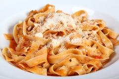 Italian Pasta Fattuccine Bolognese Stock Photography