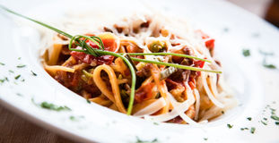 Italian Pasta - Fettuccine Stock Photography