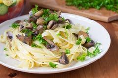 Italian pasta fettuccine Stock Photography