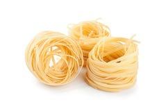 Italian pasta fettuccine nest Stock Images