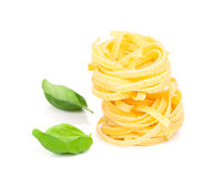 Italian pasta fettuccine nest Stock Photos