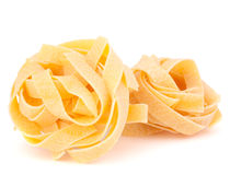 Italian pasta fettuccine nest Royalty Free Stock Photo