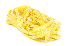 Italian pasta fettuccine nest Royalty Free Stock Images