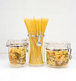 Italian pasta. Food collage. On white Stock Photo