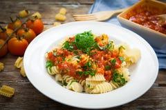 Italian pasta food Stock Image