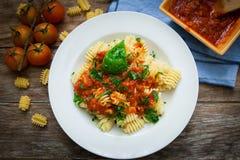 Italian pasta food Royalty Free Stock Image