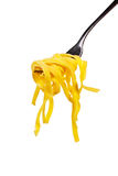 Italian pasta on fork. Stock Image