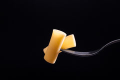 Italian pasta on fork Royalty Free Stock Photography