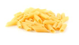 Italian pasta in form of pipe Royalty Free Stock Photography