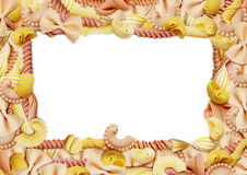 Italian pasta frame Stock Photos