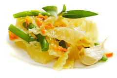 Italian pasta with green beans Stock Photography