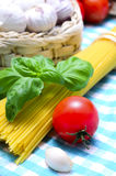 Italian pasta ingredients Royalty Free Stock Photos