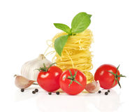 Italian pasta ingredients Royalty Free Stock Images