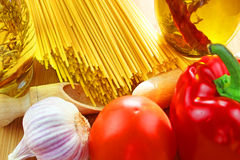 Italian Pasta ingredients Stock Photo