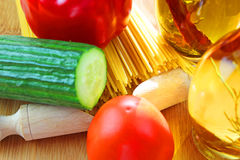 Italian Pasta ingredients Stock Images