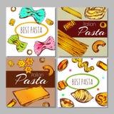 Italian Pasta Label Set Royalty Free Stock Photo