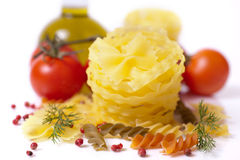 Italian pasta (macaroni). Stock Images