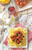 Italian pasta meal Stock Photography
